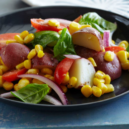 Potato, Tomato, Corn and Basil Salad