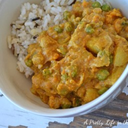 Potato, Yam and Chickpea Coconut Curry