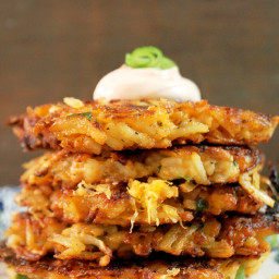 Potato and Cheese Latkes