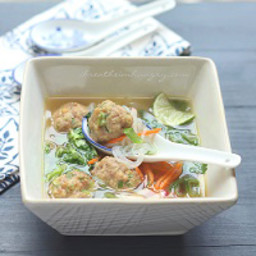 Potsticker Meatball Asian Noodle Soup – Low Carb and Gluten Free