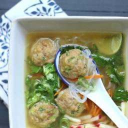 Potsticker Meatball Asian Noodle Soup – Low Carb & Gluten Free