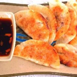 Potstickers with Soy, Vinegar and Chile Dipping Sauce