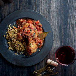 Poulet Basquaise with Currant Couscous
