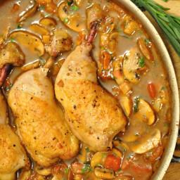 Poulet Sauté Chasseur - Hunter's Chicken