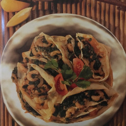 Prawn and Spinach Pancakes