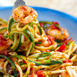Prawn Arrabbiata With Zucchini Spaghetti