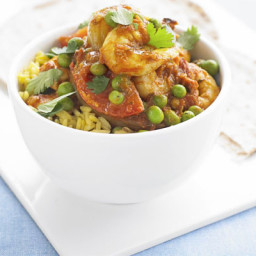 Prawn, pea and tomato curry