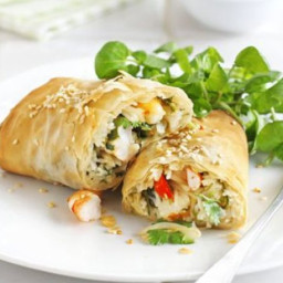 Prawn spring roll wraps
