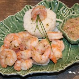 Prawns with Lemon, Chives Butter Sauce