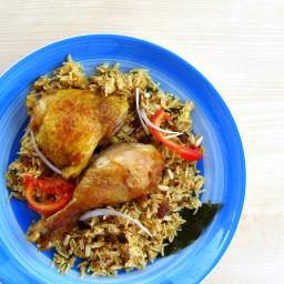 Pressure Cooked Chicken and Rice