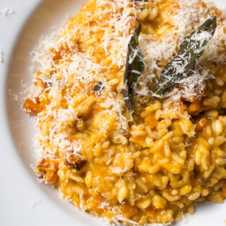 Pressure Cooker Butternut Squash Risotto With Frizzled Sage and Brown Butte