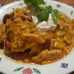 Pressure Cooker Chicken Enchiladas