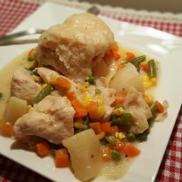 Pressure Cooker Chicken Pot Pie