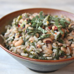 Pressure Cooker Hoppin' John with Winter Greens