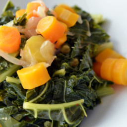 Pressure Cooker (Instant Pot) Braised Kale and Carrots