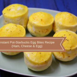 Pressure Cooker, Instant Pot, Egg Bites, Ham, Cheese and Eggs