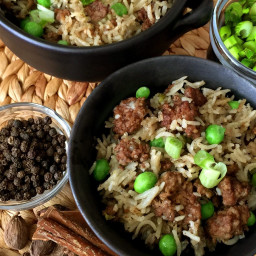 Pressure Cooker Kheema Pulao Indian Ground Beef and Rice