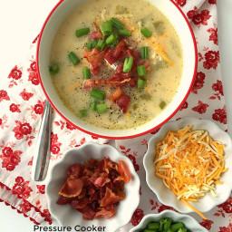 Pressure Cooker Loaded Baked Potato Soup
