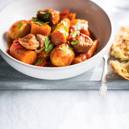 Pressure-Cooker Pork Stew  with Fall Vegetables