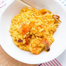 Pressure-Cooker Shrimp and Saffron Risotto
