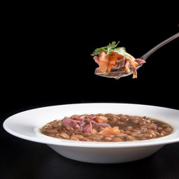 Pressure Cooker Smoky Ham Hock and Pinto Bean Soup