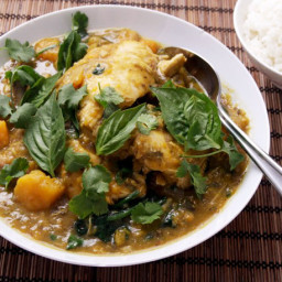 Pressure Cooker Thai Green Chicken Curry With Eggplant and Kabocha Squash R
