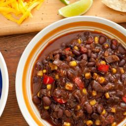 Pressure Cooker Vegan Black Bean Chili