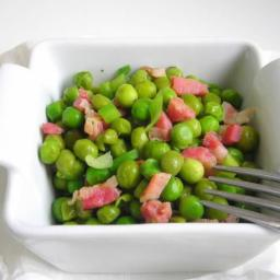 Pressure Cooker Recipe: Beer Braised Peas with Bacon!