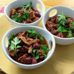 Pressure Cooker Red Bean and Turkey Chili