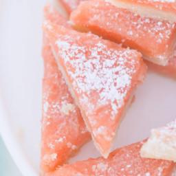 Prickly Pear Lemon Bars