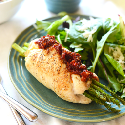 Prosciutto Asparagus Stuffed Chicken Breast