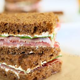 Prosciutto & French Onion Tea Sandwiches {Summer Refreshments}