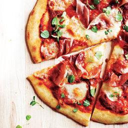 Prosciutto-Mozza Pizza