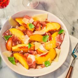 Prosciutto + Peach Salad