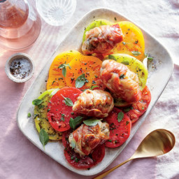 Prosciutto-Wrapped Chicken with Tomato-Basil Salad