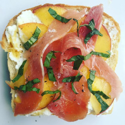 Proscuitto and maple syrup open sandwich