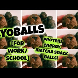 Protein Energy Matcha Balls - A Healthy Work-Day/School-Day Snack!