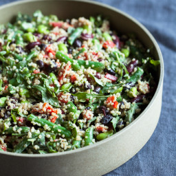 Protein-Packed Black and Kidney Bean Quinoa Salad