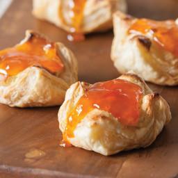 Puff Pastry Vanilla Cream Cheese Danish with Apricot Preserves