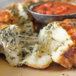 Pull Apart Cheese Stuffed Spinach Artichoke Bread