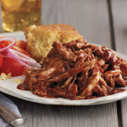 Pulled Chicken with Cherry-Chile Barbecue Sauce