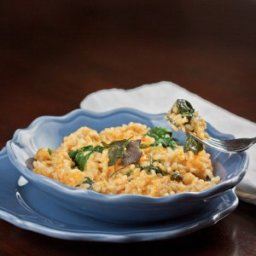 Pumpkin and Baby Spinach Risotto