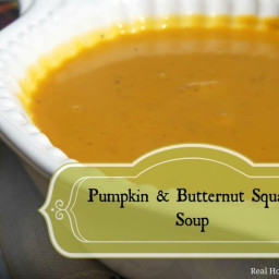 Pumpkin and Butternut Squash Soup
