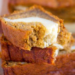 Pumpkin Banana Cheesecake Bread