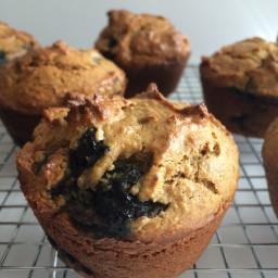 Pumpkin Blueberry Chocolate Chip Cashew Muffins