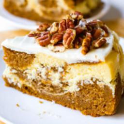Pumpkin Cake Cheesecake