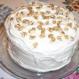 Pumpkin Cake with Seafoam Frosting