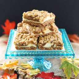 Pumpkin Cheesecake Oatmeal Cookie Bars
