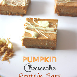 Pumpkin Cheesecake Protein Bars