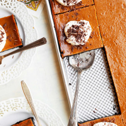 Pumpkin-Chocolate Slab pie